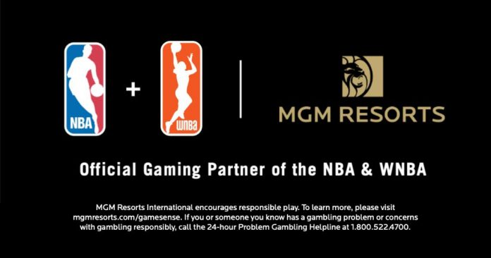 Image result for nba mgm partnership